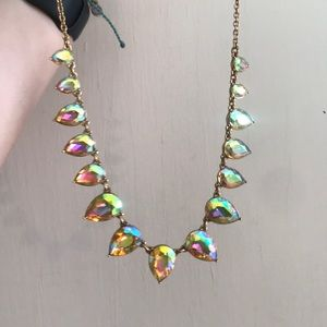 Jcrew iridescent statement necklace